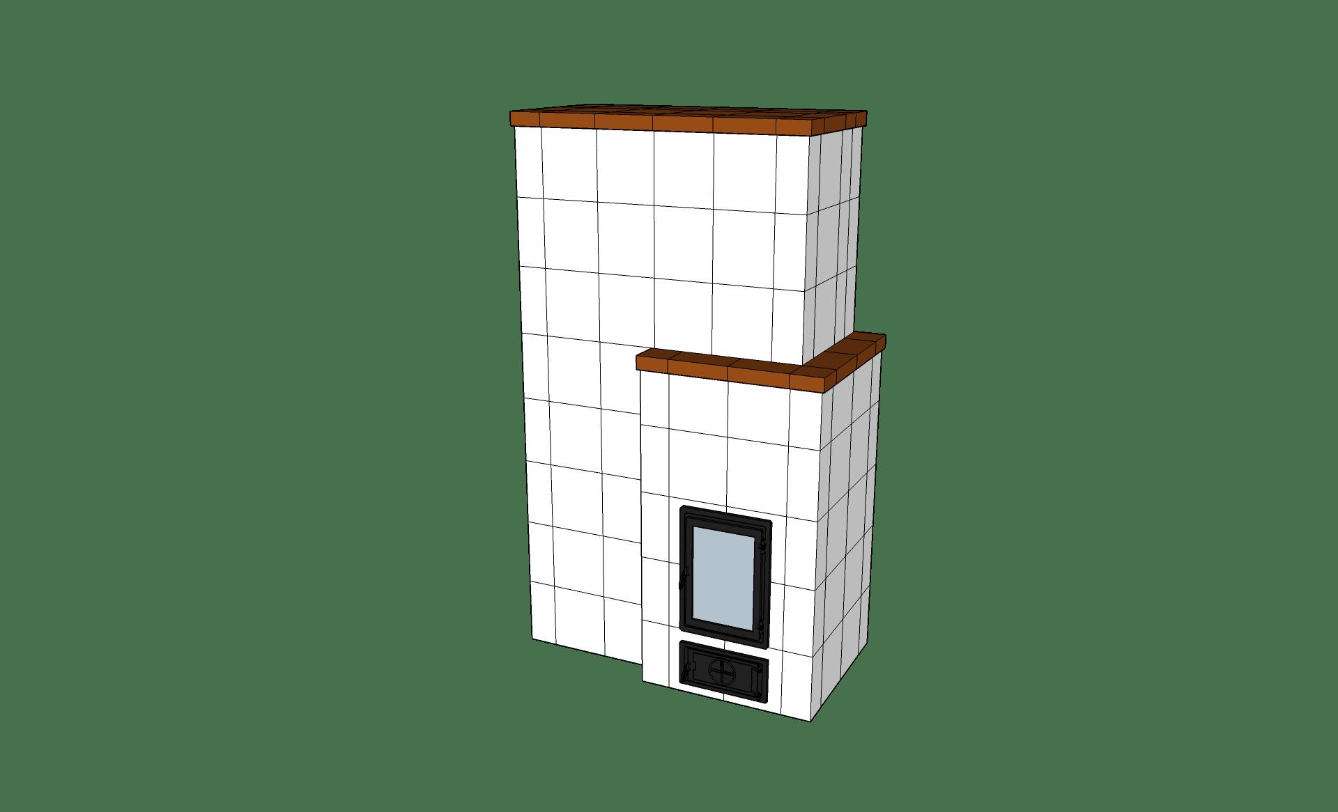 Modern-cserépkályha
