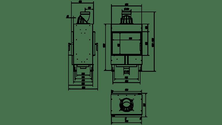 12 kW teljesítményű A-Energiaosztályos-KRATKI LEMEZKANDALLÓ LUCY 12 SZEMKÖZTI ÜVEGES