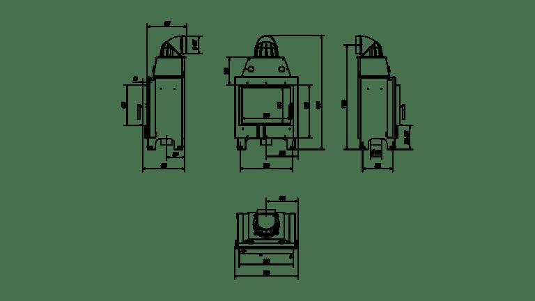 10 kW teljesítményű A-Energiaosztályos-KRATKI MBM 10 KANDALLÓBETÉT