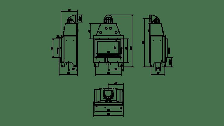 15 kW teljesítményű A+-Energiaosztályos-KRATKI MBO 15 KANDALLÓBETÉT