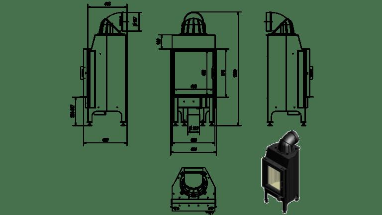 7 kW teljesítményű A-Energiaosztályos-KRATKI NADIA 8 KANDALLÓBETÉT