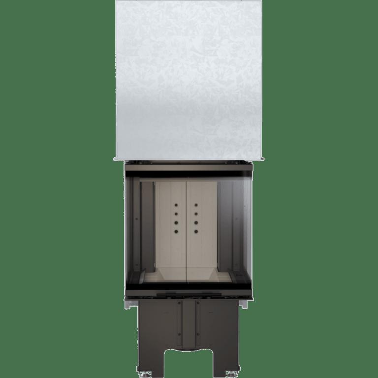 8 kW teljesítményű A+-Energiaosztályos-KRATKI NBC 8 HÁROM OLDALÜVEGES KANDALLÓBETÉT
