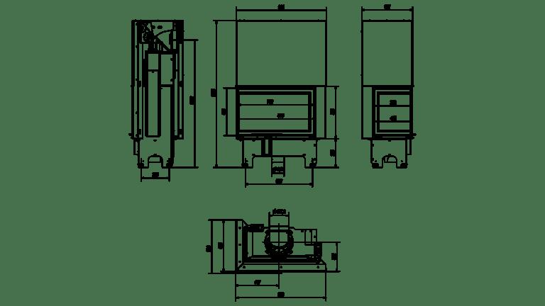 14 kW teljesítményű A+-Energiaosztályos-KRATKI VN 810/410 BAL OLDALÜVEGES LIFTES KANDALLÓBETÉT