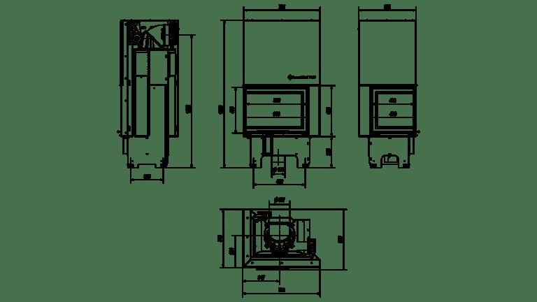 9 kW teljesítményű A-Energiaosztályos-KRATKI VNL 610/430 BAL OLDALÜVEGES LIFTES KANDALLÓBETÉT