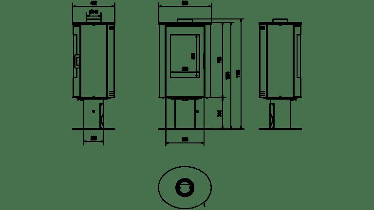 8 kW teljesítményű A-Energiaosztályos-KRATKI KOZA AB S N O DR KANDALLÓKÁLYHA
