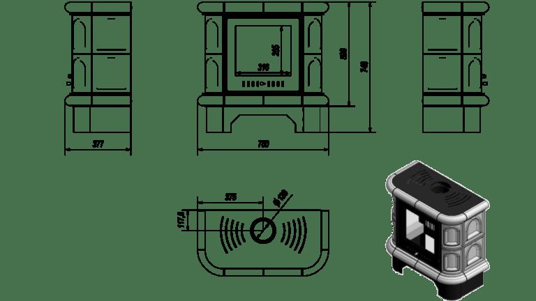 5 kW teljesítményű A-Energiaosztályos-KRATKI WK440 CSEMPEKANDALLÓ