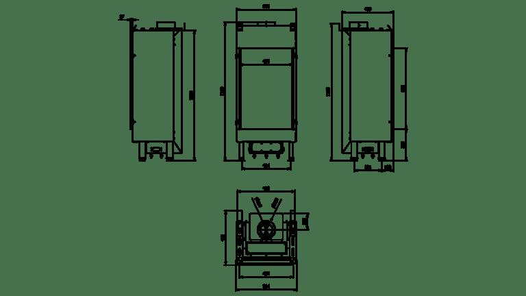 7 kW teljesítményű C-Energiaosztályos-LEO 45/68 GÁZKANDALLÓ
