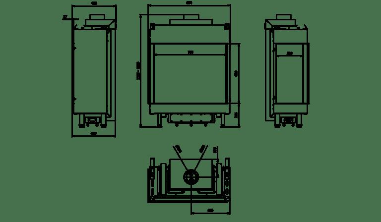 7 kW teljesítményű C-Energiaosztályos-LEO 76/62 BALOS GÁZKANDALLÓ
