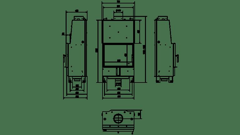 12 kW teljesítményű A+-Energiaosztályos-LUCY 12 VÍZTERES LEMEZKANDALLÓ