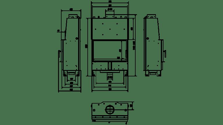 16 kW teljesítményű A+-Energiaosztályos-LUCY 16 VÍZTERES LEMEZKANDALLÓ