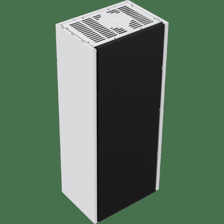 8 kW teljesítményű A-Energiaosztályos-SIMPLE BOX FEHÉR BAL OLDALÜVEGES KANDALLÓBETÉT TELEPÍTHETŐ LEMEZBURKOLATOS