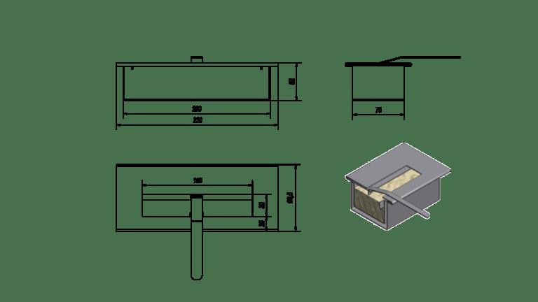 BIOETANOL TARTÁLY MINI-Beépíthető biokandalló-16720 Ft